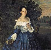 Lady in Blue Konstantin Somov