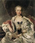 ) Portrait of Catherina Golitsyna LOO, Louis Michel van