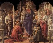 Madonna and Child with St Fredianus and St Augustine Fra Filippo Lippi