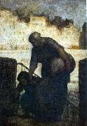 Laundress on the Quai d'Anjou Honore  Daumier