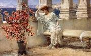 Her Eyes are with Her Thoughts and They are Far away tadema