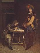 Officer Writing a Letter TERBORCH, Gerard