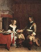 Man Offering a Woman Coins TERBORCH, Gerard