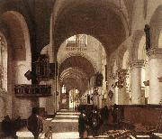 Interior of a Protastant Gothic Church WITTE, Emanuel de
