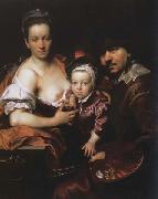 Portrait of the Artist with his Wife and Son Johann kupetzky