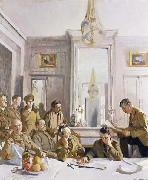 Some Members of the Allied Press Camp,with their Pres Officers Sir William Orpen