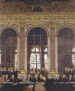 The Signing of Peace in the Hall of Mirrors,Versailles Sir William Orpen