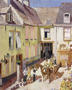 The Courtyard,Hotel Sauvage,Cassel,Nord Sir William Orpen