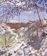 A German Gunners Shelter,Warlencourt Sir William Orpen