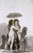 Couple with Parasol on the Paseo Francisco de goya y Lucientes