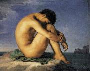 Young Man by the Sea Hippolyte Flandrin