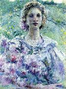 Girl with Flowers Robert Reid