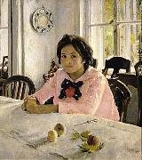 The girl with peaches  was the painting that inaugurated Russian Impressionism. Valentin Serov