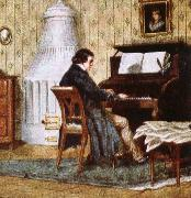 schumann composing at his piano johannes brahms