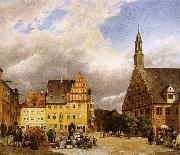 the market place zwickau, where schumann was born johannes brahms