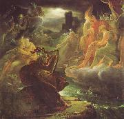 Ossian on the Bank of the Lora, Invoking the Gods to the Strains of a Harp. Francois Pascal Simon Gerard