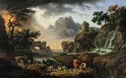 Mountain Landscape with Approaching Storm Emile Jean Horace Vernet