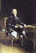 Portrait of French stateman Charles Maurice Talleyrand-Perigord Francois Pascal Simon Gerard