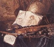 Still Life of Musical Instruments Pieter de Ring