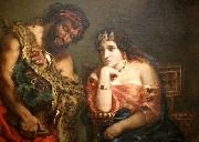 Cleopatra and the Peasant Eugene Delacroix