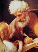 St Matthew and the angel Guido Reni