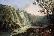 Villa of Maecenas and Waterfalls in Tivoli Jakob Philipp Hackert