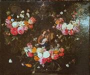 Garland of Flowers with the Holy Family Jan Van Kessel