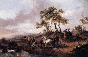 Halt of the Hunting Party Philips Wouwerman