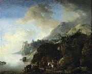 Travelers Awaiting a Ferry Philips Wouwerman