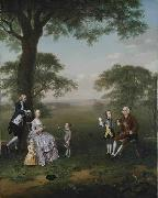 The Clavey family in their garden at Hampstead Arthur Devis