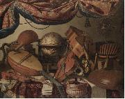 A Still Life with Musical Instuments including a Viola Bartolomeo Bettera