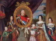 Apotheosis of John III Sobieski surrounded by his family. Henri Gascar