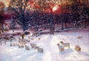 Beneath the Snow Encumbered Branches Joseph Farquharson