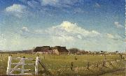 Fenced in Pastures by a Farm with a Storks Nest on the Roof Laurits Andersen Ring