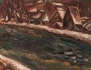 A village along a river Leo Gestel