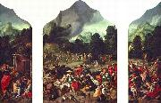 Triptych with the Adoration of the Golden Calf Lucas van Leyden