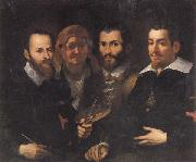 Self-Portrait with Parents and Half-brother Francesco Vanni