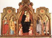 Madonna and Child with Angels and SS.Benedict and Peter.john the Baptist and Miniato GADDI, Agnolo