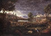Strormy Landscape with Pyramus and Thisbe POUSSIN, Nicolas
