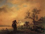 Horses Being Watered Philips Wouwerman
