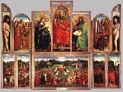 The Ghent Altarpiece (wings open) EYCK, Jan van