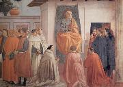 Masaccio,St Peter Enthroned with Kneeling Carmelites and Others Fra Filippo Lippi