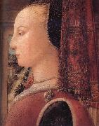 Details of Portrait of a Woman with a Man at a Casement Fra Filippo Lippi