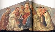 Madonna of Humility with Angels and Carmelite Saints Fra Filippo Lippi