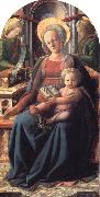 Madonna and Child Enthroned with Two Angels Fra Filippo Lippi