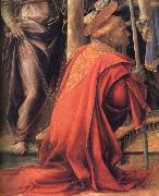Details of Madonna and Child with Angels,St Frediano and St Augustine Fra Filippo Lippi