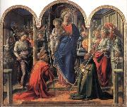 Madonna and Child with Angels,St Frediano and St Augustine Fra Filippo Lippi