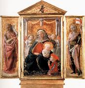 Madonna of Humility with Angels and Donor,St john the Baptist,St Ansanus Cambridge,Fitzwilliam Museum. Fra Filippo Lippi