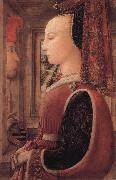 Portrait of a Woman with a Man at a Casement Fra Filippo Lippi