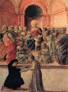Madonna and Child with Angels,Saints and Donor Fra Filippo Lippi